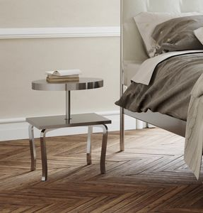 Prince, Moderne Holz und Metall Nachttisch, Stahlregale