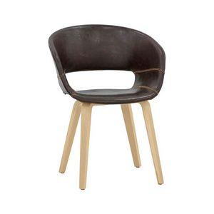7851, Stuhl mit Öko-Leder bezogen