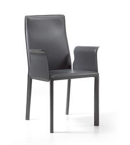 Ara br, Moderner Stuhl, komplett mit Leder bezogen
