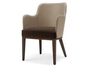 Tina-P3, Sessel aus Leder oder Stoff
