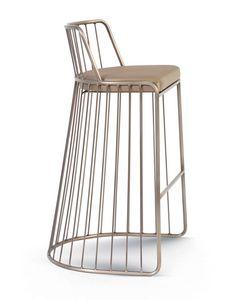 Gabby, Metallhocker mit gepolstertem Sitz