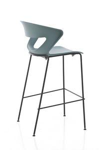 Kicca stool, Hocker aus Metall und Polypropylen, auch gepolstert