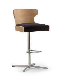 XIE BAR STOOL 052 SG X, Hocker mit Kreuzfuß