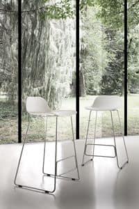Art. 524 Adam, Stuhl aus Metall und Polypropylen, für den Objektbereich