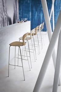 Blog Stool 68, Metall-Barhocker mit Sitz aus Kunststoff, f�r das Hotel