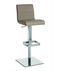Flexa SG, Metallhocker mit Sitz und Rücken gepolstert