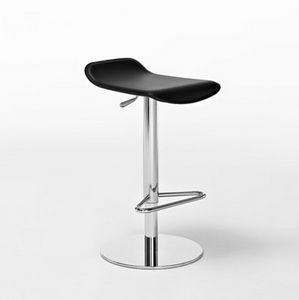 Konga SG, Wesentliche Barstuhl, in Leder und Stahl, für moderne Küchen