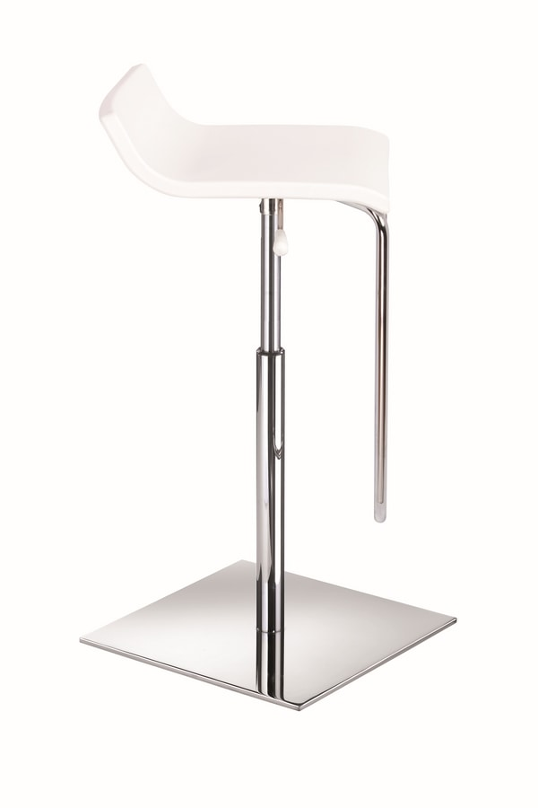 Micro X, Barhocker mit verchromtem Metall, Gas-Lift