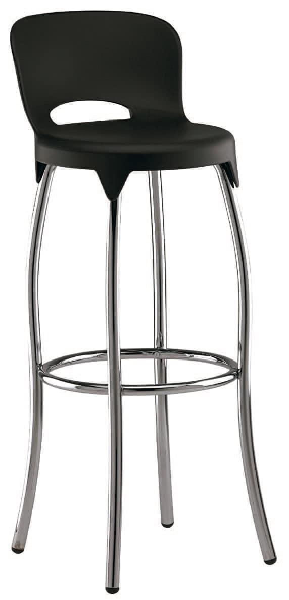 SG 031, Hocker aus Metall mit Kunststoffschale, für Küchen