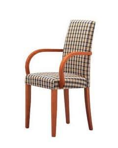 298, Stuhl mit Armlehnen, gepolstert, für Küchen und Restaurants