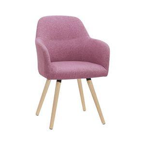 5331, Moderner Stuhl mit Holzbeinen