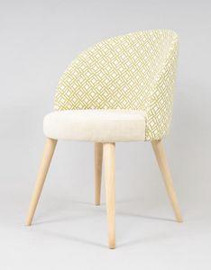 BS528A - Stuhl, Gepolsterter Stuhl für den Objektgebrauch
