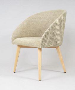 BS532A - Stuhl, Stuhl mit gepolsterter Sitzfläche und Rückenlehne