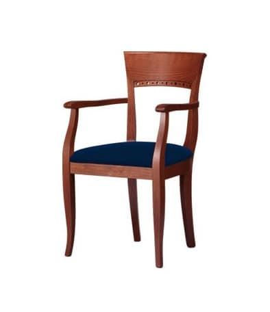 C18, Stuhl mit Armlehnen, aus Buchenholz, für die Gaststätten