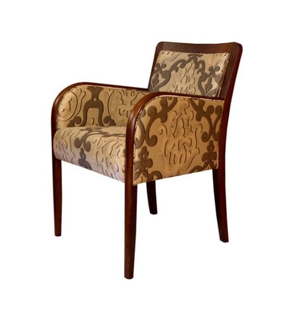 C21, Sessel in Buche, gepolstert, im klassischen Stil