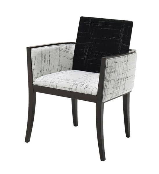 C23, Sessel aus Buchenholz, gepolstert, für die Restaurants