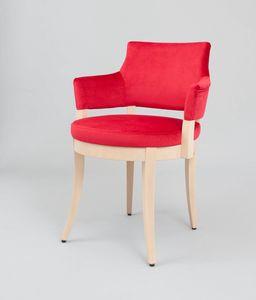 C42, Gepolsterter Sessel mit runder Sitzfläche