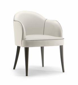 CHICAGO ARMCHAIR 015 P, Sessel mit Holzbeinen