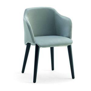 Diva W, Sessel mit Holzbeinen