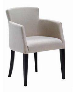 Garda-P, Gepolsterter kleiner Sessel für Esszimmer