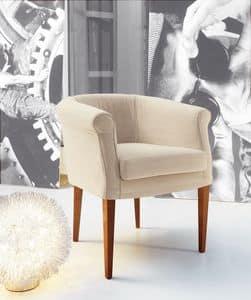 Isa, Sessel mit Polsterung komplett herausnehmbar, geeignet für Wohn-und Objektsituation