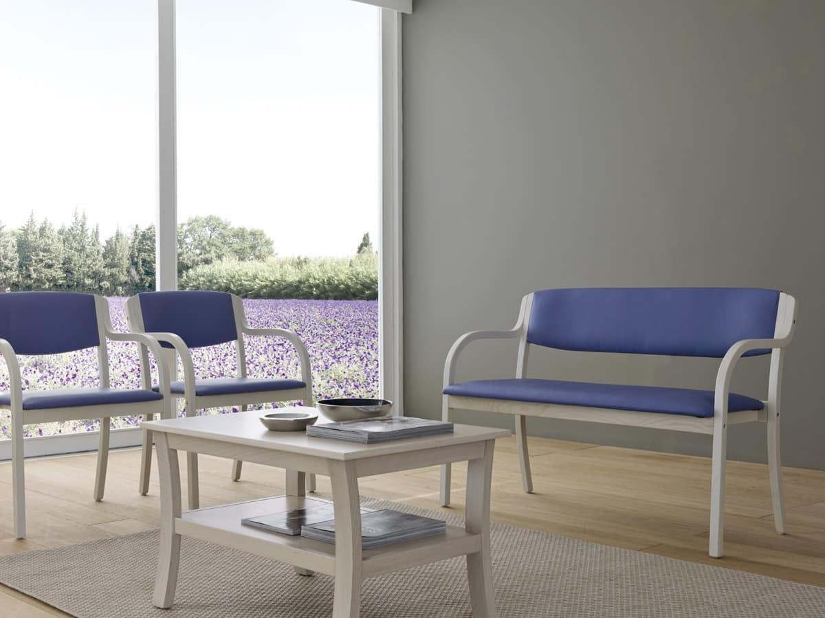 Marta 03 P, Stuhl mit gepolsterten Armlehnen mit lebendigen Farben für Küchen