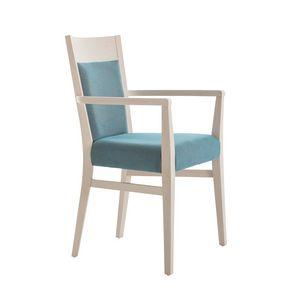 MP472EP, Gepolsterter Stuhl mit Armlehnen für Restaurant