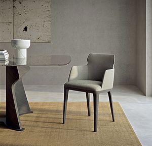 PO78 Shape Sessel, Sessel mit Holzbeinen