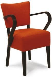Portocervo P, Gepolsterter Stuhl aus lackiertem Holz, in verschiedenen Farben