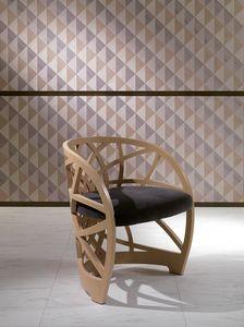SE54 Galileo Stuhl, Holzstuhl mit gepolstertem Sitz