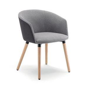 UF 188 - WOOD, Sessel mit Holzbeinen