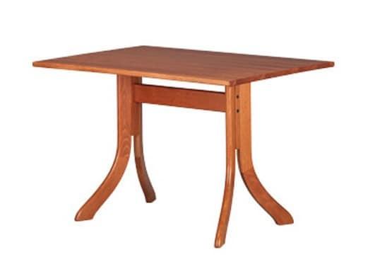 605, Moderne rechteckigen Tisch, in Buche, für Bars