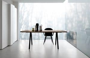 Neat, Designtisch mit Aluminiumbeinen, robust und dünn
