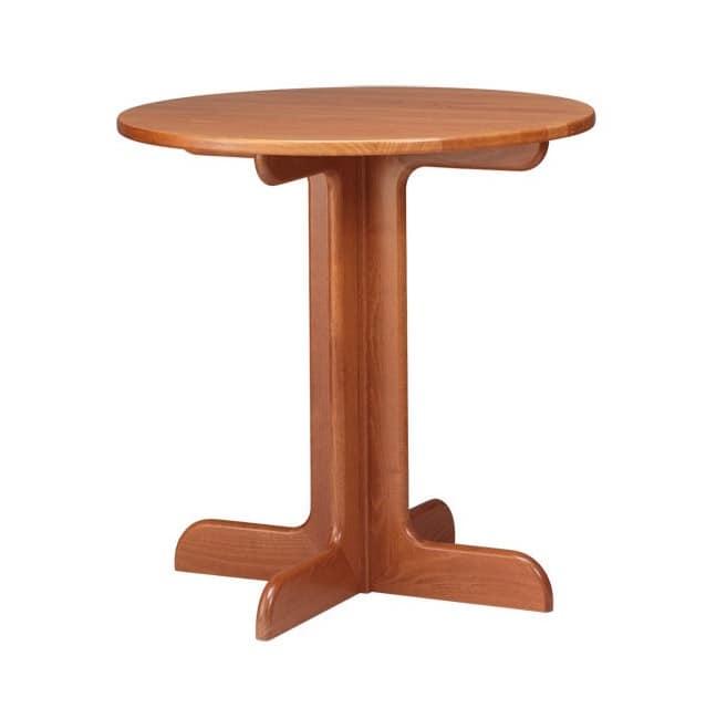 TV02, Tabelle aus Buchenholz im rustikalen Stil, für Kreise