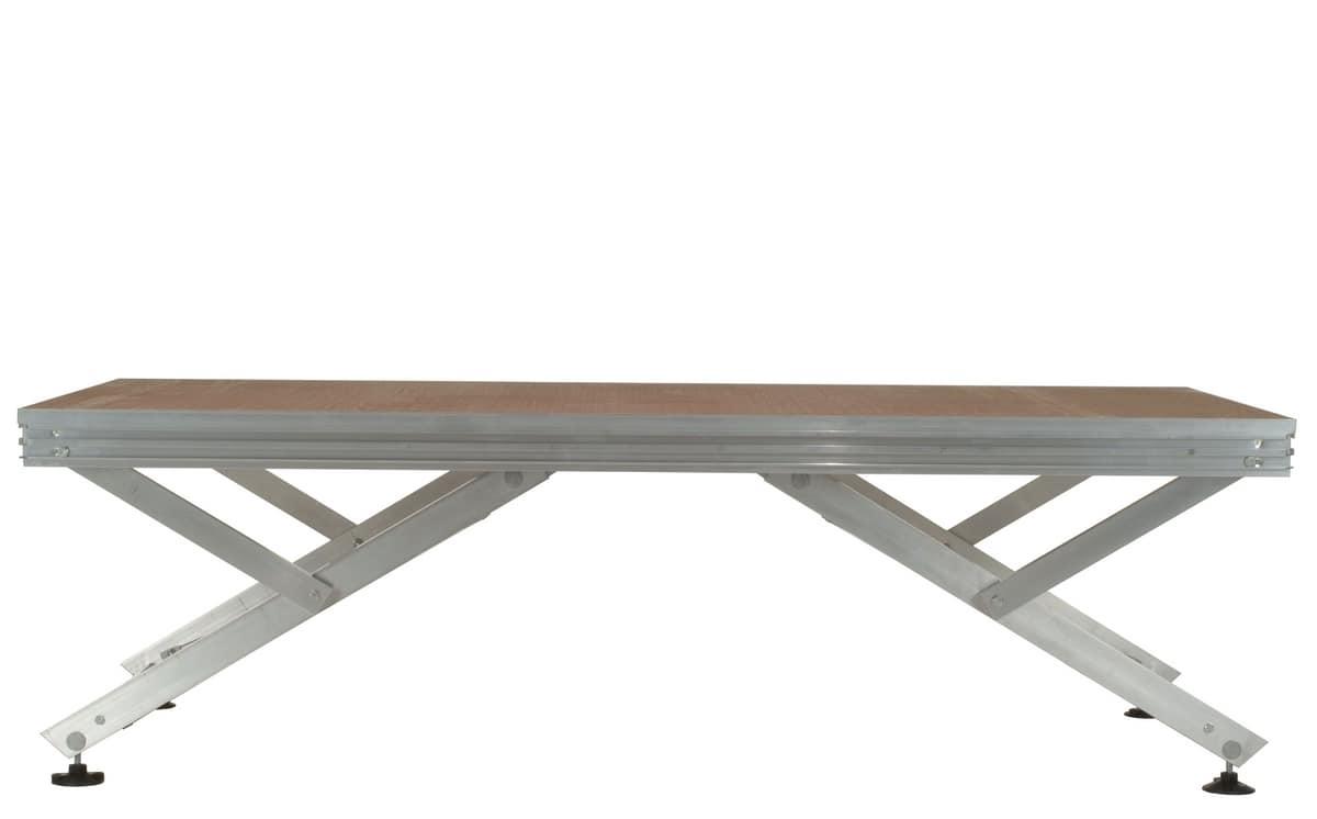 Unistage, Modulare Plattform für das Zusammen Bühnen, Tribünen und Laufstege