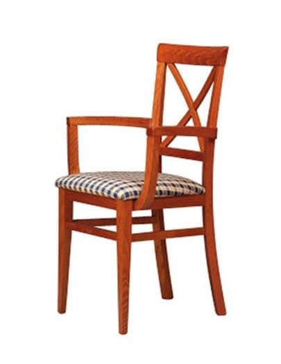 311 P, Stuhl mit Armlehnen und Rückenlehne aus Holz, für Pubs