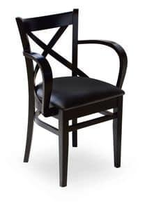 Wolf/P, Sessel aus Holz mit gepolstertem Sitz