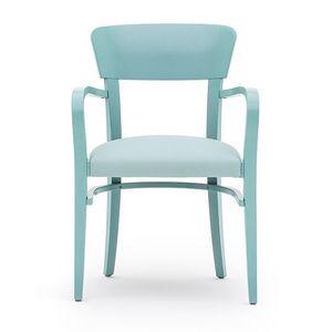 Steffy 00422, Sessel mit Armlehnen aus Massivholz, Sitz gepolstert, für Vertrags-und Wohnbereich
