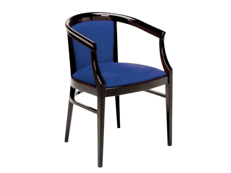 064, Klassischer Sessel aus lackiertem Holz, für Restaurants gemacht