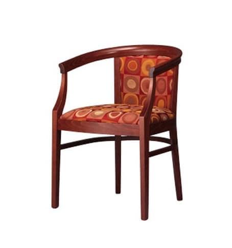 430, Sessel in Buche, elegant und robust, gepolstert