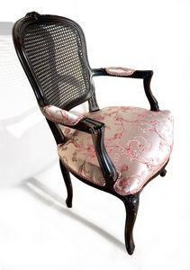 Art. 1430/CB geschnitzter Sessel, Outlet-Sessel mit Wiener Rückenlehne