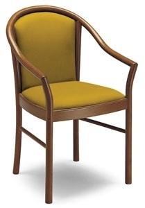 C11, Klassischer Sessel mit Armlehnen, in Massivholz, für die Restaurants