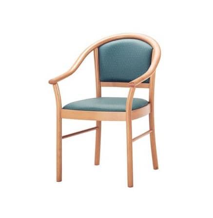 C14, Sessel mit Armlehnen aus Buchenholz für den Objektbereich