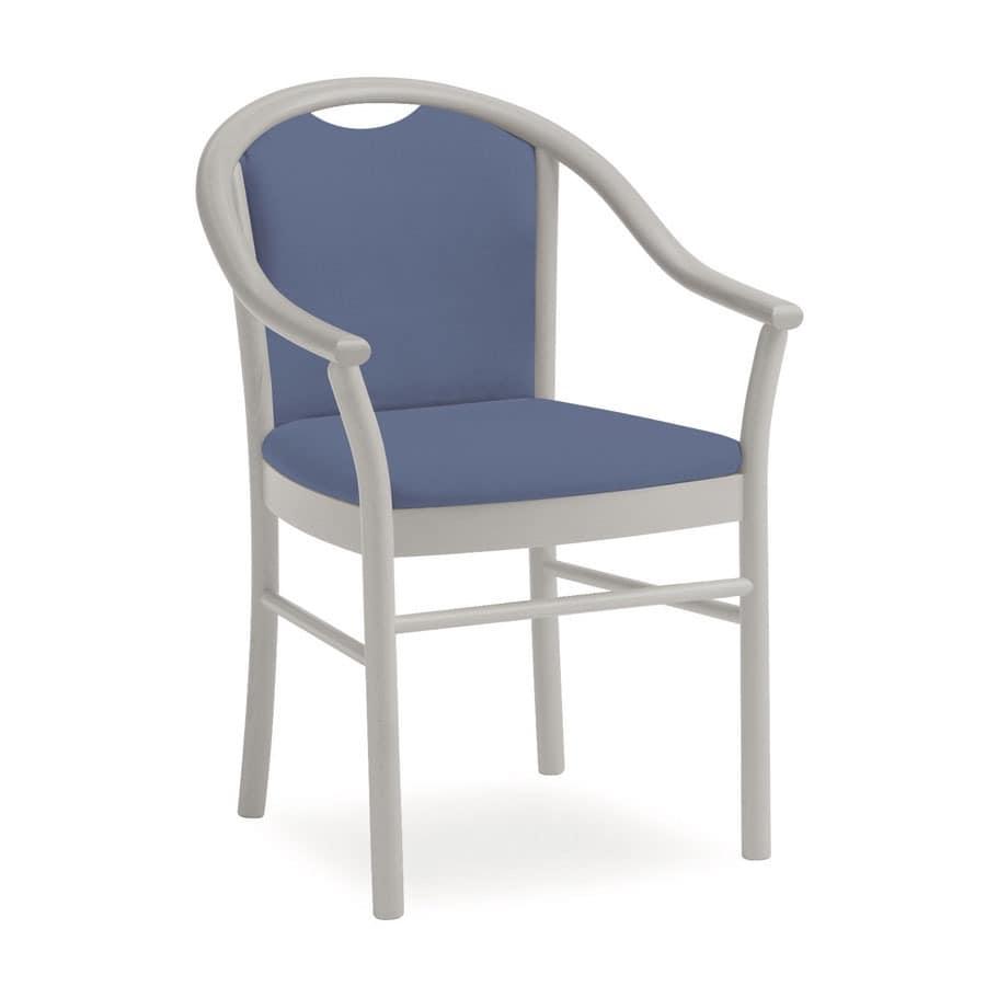 Dolly L1175 M, Klassischer Stuhl mit Armlehnen, funktional, für Hotels