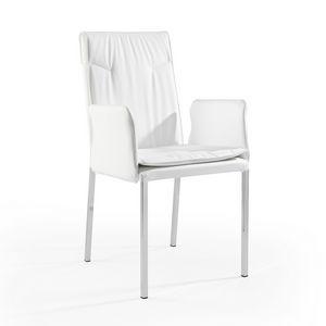 Ariel br verchromt, Sessel aus Stoff oder Leder