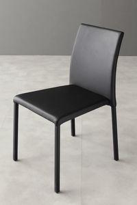 Art. 216 Cloe, Stuhl vollständig in Kunstleder gepolstert