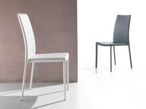 Art. 232 Vanity, Stuhl in PVC gepolstert, für Küche und Esszimmer
