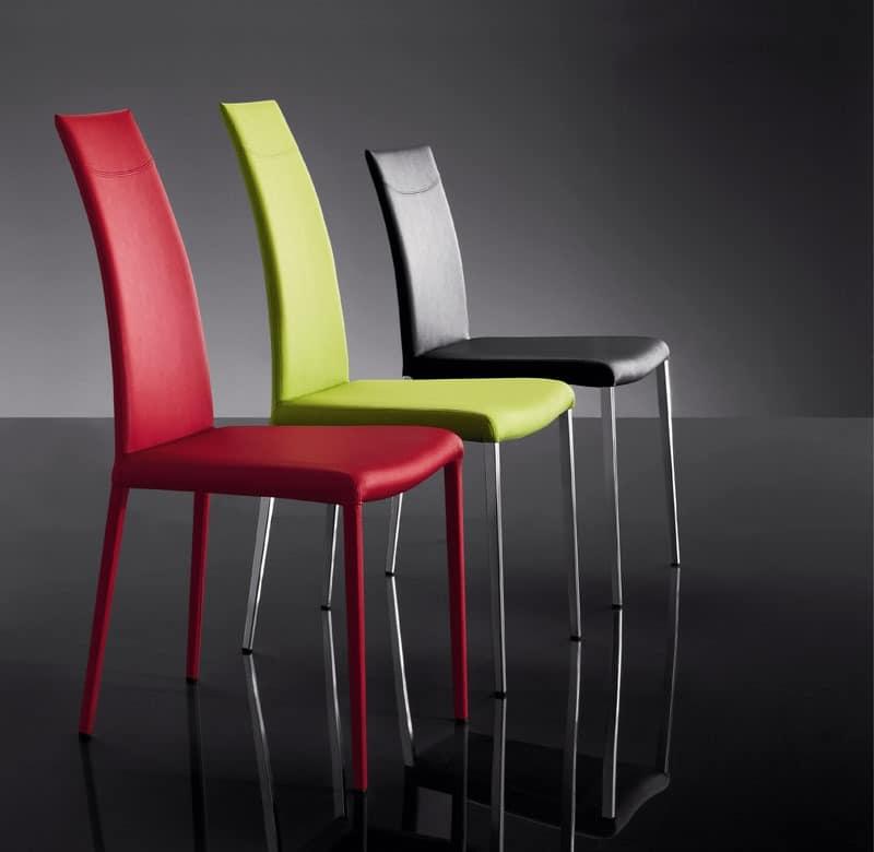 ART. 252 MISS, Leder Stühlen, modernen Stil, für das Hotel
