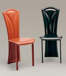 Fiore, Chair in Leder bezogen, mit klassischen Linien, für Restaurants und Hotels