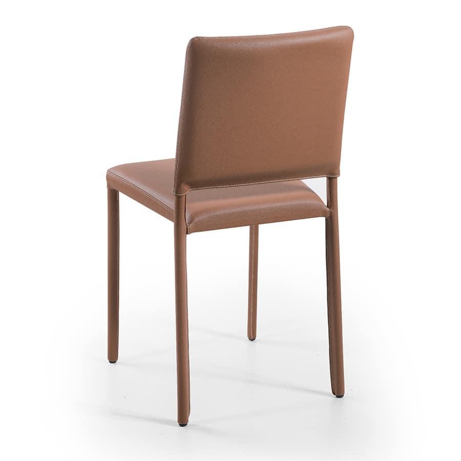Jerry, Metall und Leder Stühle, stapelbar, feuerfest